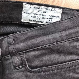 All saints BROWN skinny jeans